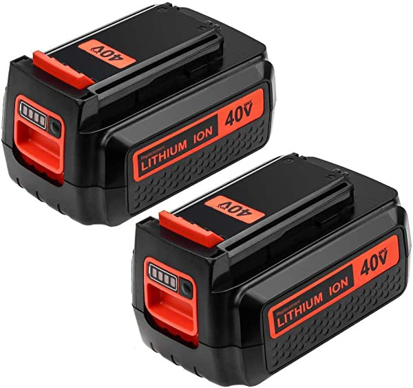 2Packs 40 Volt 2 5Ah LBX2040 Battery Replace For Black And Decker 40V Lithium Battery LBX36 LBXR2036 LBX2040 LBX1540 LBX2540