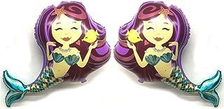 "Purple Merry Mermaid 38"" Giant Foil Balloon By ZiYan, Set of 2"