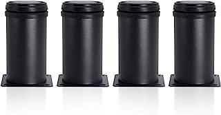 Stainless Steel Furniture Legs Cabinet Legs 2 Inch Diamete Kitchen Feet Worktop/Unit/Breakfast Bar/Desk Table Legs Sofa Legs Kitchen Adjustable Feet Pack of 4 (4 Inch/100 mm)