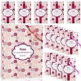LA BELLEFÉE Sobres Perfumadas Bolsitas Aromáticas sobre de Papel Aromatizado para Colocar Entre Prendas, en Cajones, Regalos para Cumpleaños - Rosa