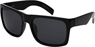 Extra Large Wide Rectangular Frame Polarized Sunglasses for Big Head with Spring Hinge 147-152MM