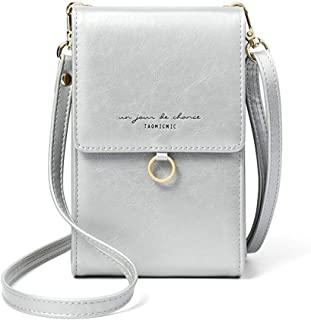 Wukong Small Crossbody Bag Cell Phone Purse Wallet Lightweight Shoulder Bags for Women(Gray)