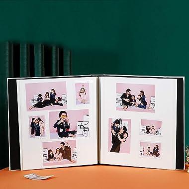 Album Photo en Cuir Viscose, Album Commémoratif De Couple De Famille De Grande Capacité, Album De Film De Bricolage Fait À La