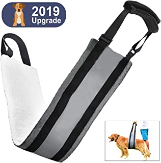 Fine-Pets Dog Sling for Back Legs - Hip Lift Support Harness for Rear Legs - Medium Dog Harness for Large Dogs - Adjustable Handles and Padded Soft Canine Aid for Old,Surgeries,Disabled,Weak Hind