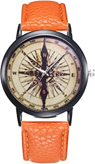 Female Watch for Small Wrist,Women Watches,Stainless Steel Watches for Women,Roman Numerals Watch Women (Orange)