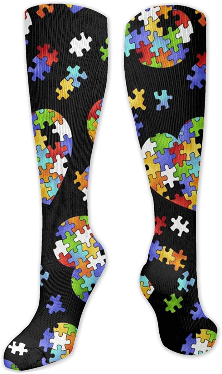 Love Hearts Seamless Knee High Socks Leg Warmer Dresses Long Boot Stockings For Womens Cosplay Daily Wear