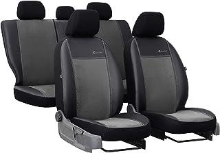 Autositzbezüge für Nissan Navara NP300 IV 15-5-Sitze Grau Komplettset Sitzbezug