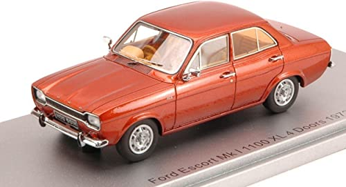 KESS MODEL KS43015011 FORD ESCORT MKI 1100 XL 4 DOORS 1973 BRONZE 1 43 DIE CAST