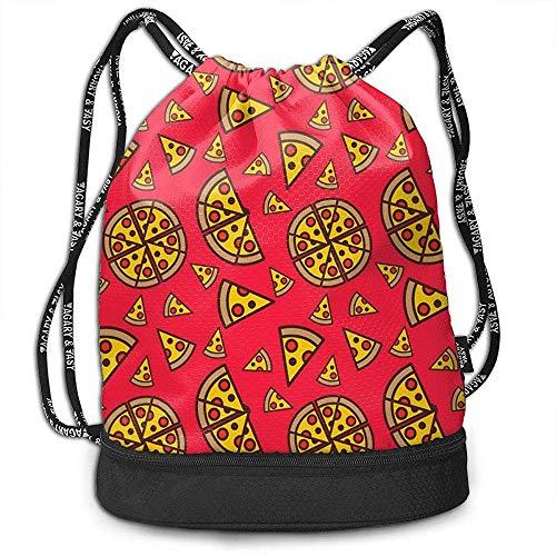 MarkCine-! Gymsack Drawstring Bag Zaino da Palestra Borsa con Cordino Sackpack Sport Cinch Pack Zaino Pocke Semplice per Uomo Donna Affettatrice Pizza