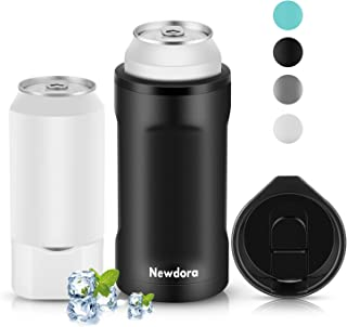 Newdora Can Cooler, Double Walled Stainless Steel Insulated Cooler for 12oz Regular Cans, Bottles, 16oz Regular Sized Cans, Beer Holder, Cans Keeper, Wine Tumbler, Coffee Mug, Coffee Cup