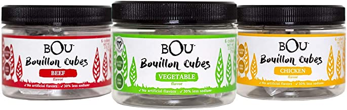 BOU Bouillon 3 Flavor Variety Pack (Chicken, Beef, Vegetable)