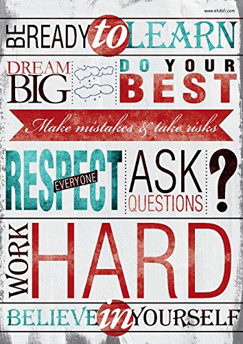 ekDali Success Rules Poster for Classroom, Home Wall room Décor, cubicle decor A3 11.7 by 16.5 inches, ideal gifts for children/ kids from Ekdali.com. Reinforces important rules to succeed in life