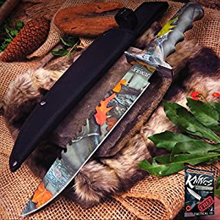 FIXED BLADE Elite Knife Jungle Master Camo Green Survival Hunting Sheath JM-005FC + free eBook by ProTactical'US