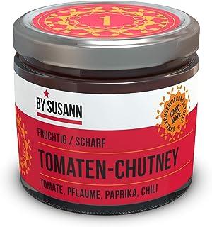 BY SUSANN - 01 TOMATEN-CHUTNEY im Glas 1 x 150 g, Geschmackserlebnisse mit intensiven und natürlichen Aromen, fruchtig, scharf