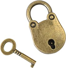 HMF 6490 antiek-slot, hangslot, beugelslot in vintage look, 2,5 x 1 x 3,8 cm, goud