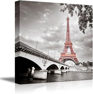"wall26 – Eiffel Tower in Paris France – Canvas Art Wall Art – 16""x16"""