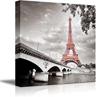 wall26 - Eiffel Tower in Paris France - Canvas Art Wall Decor - 16