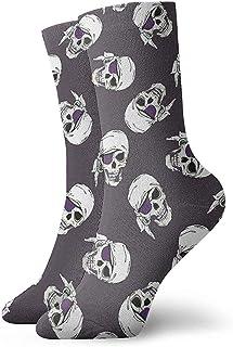 Dydan Tne, Piratas Calaveras Calcetines de Vestir Calcetines Divertidos Calcetines Locos Calcetines Casuales para niñas Niños