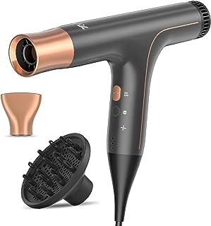 TOCMOC TE10 Ionic Hair Dryer Pro سبک وزن ، کنترل دما هوشمند برای خشک کردن سریع ، سالم و بدون وز ، خشک کن حرفه ای برای موهای صاف تر ، براق تر از زن ، 1100 وات