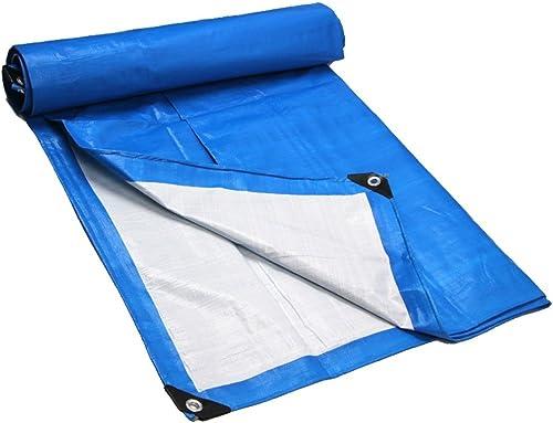 MONFS Home Tissu antipluie imperméable bache bache imperméable Camping Tapis Camion auvent écran Solaire Anti-Corrosion antigel (Couleur   bleu, Taille   4x4M)