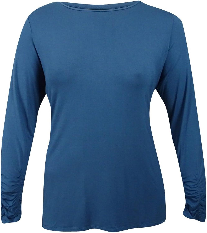 Alfani Womens Plus Long Sleeves CrewNeck Casual Top