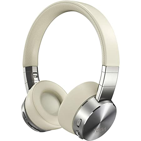 Lenovo Yoga Active Noise Cancellation Headphones, Wireless On-Ear Headphones, Bluetooth 5.0, 14Hrs Playtime, Microphone, Fold-Flat, Memory Foam Earpads, Carry Case, Win/Mac/Android, GXD0U47643, Mica