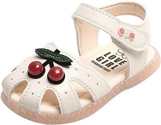 WINJIN Chaussures de Plage pour Enfant Filles Sandales B/éb/é Filles Chaussure d/ét/é Sandales Bride Cheville Girls Espadrilles Tongs Pantoufles Mules Mixte Enfant en 2-12 Ans Rose Bleu