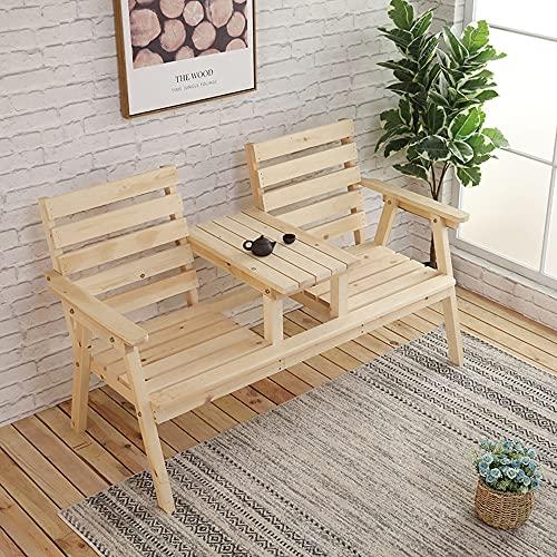 Gartenmöbel Mit Kleinem Tisch Und Armlehnenrücken, 2-sitziger Gartenbank, Korrosionsbeständig Und Insektensicher