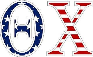 Theta Chi American Flag Greek Letter Sticker - 2.5