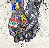 JHGJHK Graffiti Art Poster Print Pintura al óleo Juego Abstracto Pintura al óleo Decoración de la habitación de los niños Pintura (Imagen 8)