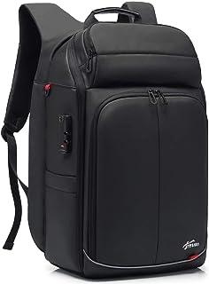 Mochila antirrobo, para hombre, para negocios, portátil, 17,3 pulgadas, mochila de viaje, avión, antirrobo, mochila con conexión USB