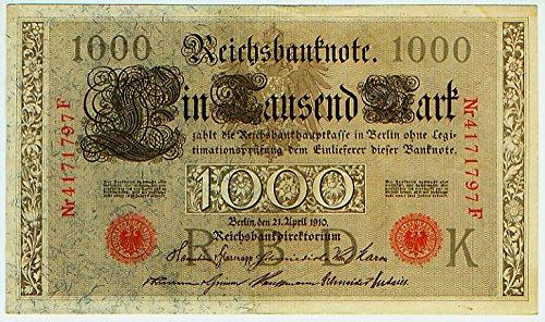 Reichsbanknote 21.4.1910 , 1000 Mark