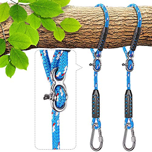 Besthouse Tree Swing Ropes, Hammock Tree Swings Hanging Straps, Adjustable Extendable, for Outdoor Swings Hammock Playground Set Accessories, 3.28ft(39.37') & 1000 lb Capacity, Diameter 0.39', 2 Pack