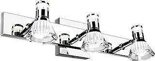 SUNVP 3 Light Modern LED Bathroom Vanity Light Over Mirror, Interior Wall Sconce Lighting Fixtures with Double-Glazed Shade