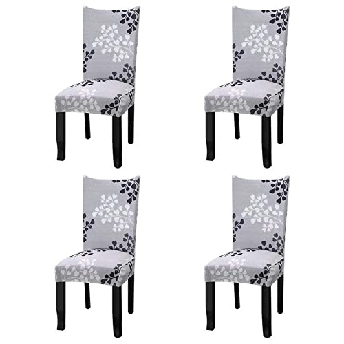 ccb713826376b Fuloon Super Fit Stretch Removable Washable Short Dining Chair Protector  Cover Seat Slipcover for Hotel
