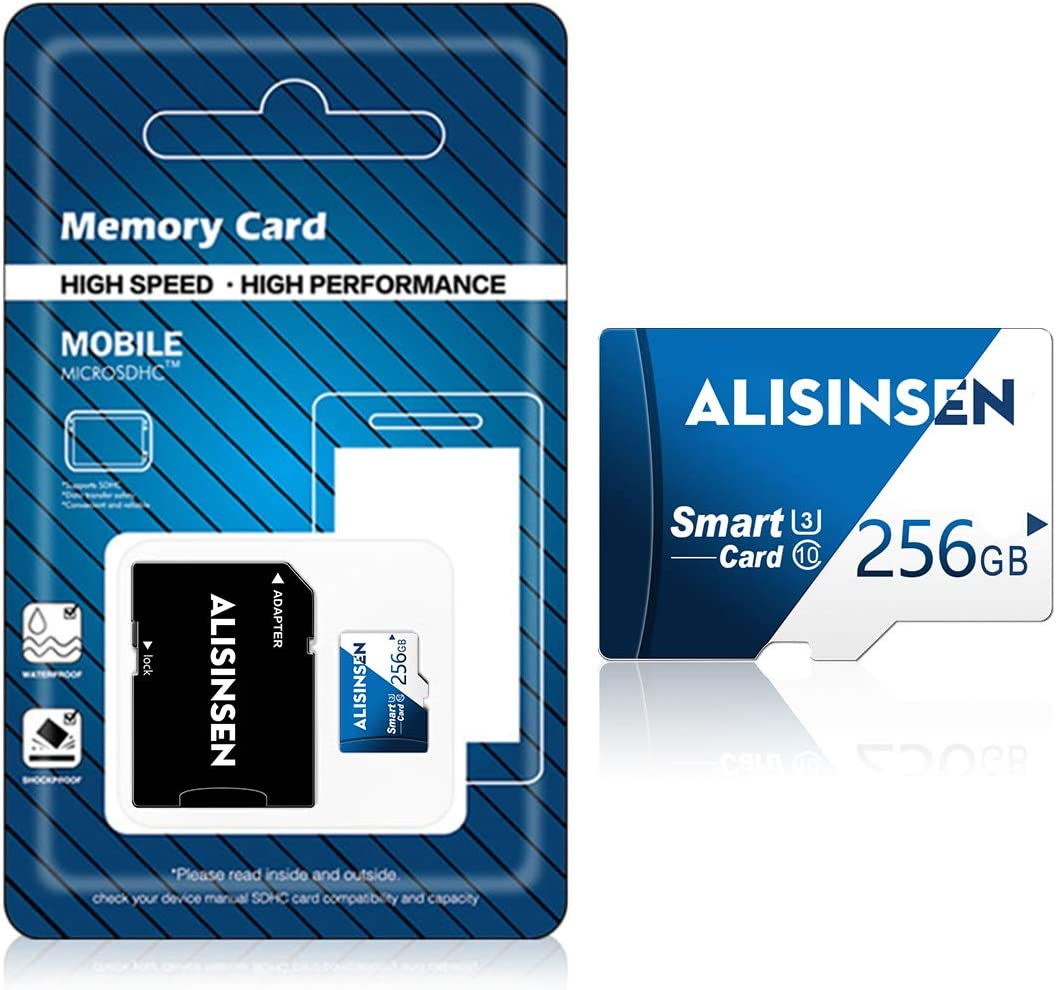 Micro SD Card 256GB SD Memory Card Class 10 256GB TF Memory Card High Speed Compatible Computer Camera and Smartphone,TF Memory Card with a SD Card Adapter