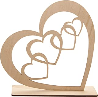 200pcs bois mini amour coeur décoration de table décoration