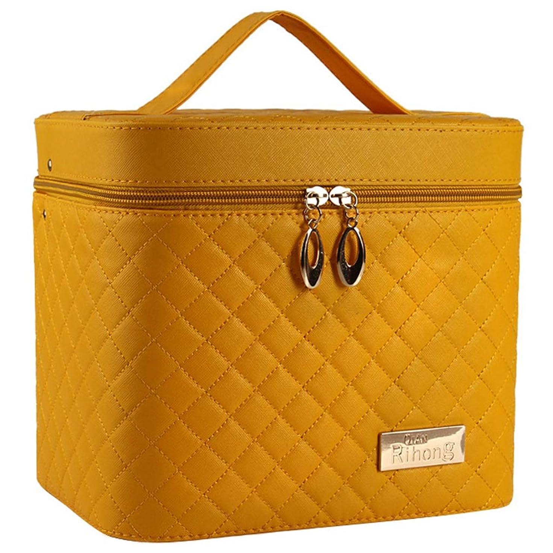 挽くそれに応じてスラダム[テンカ]メイクボックス コスメボックス 黄色 化粧箱 鏡付き 収納ボックス 収納ケース 化粧品?化粧道具入れ 自宅?出張?旅行?アウトドア撮影 プロ用 大容量 取っ手付 多機能