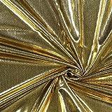 Dekostoff Lamé – gold — Meterware ab 0,5m — zum