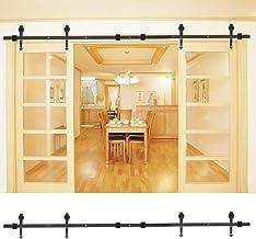 Schuifdeurrail, dubbele deur 8FT deurrail, splicingspijl voor keuken thuis badkamer hotel