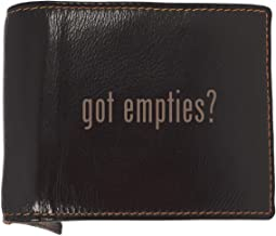 got empties? - Soft Cowhide Genuine Engraved Bifold Leather Wallet