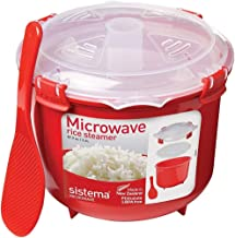 Sistema Rice Microwave Multicooker Steamer 2.6 Litre, 87.9 Oz, 11 Cups or 2.75 Quart, Colors May Vary