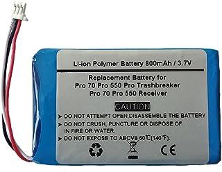 800mAh/3.7V Replacement Battery for Garmin Pro 70 Trashbreaker Pro 550 Trashbreaker,Pro Trashbreaker, Pro 70 Receiver, PT 10, TB 10, Pro 550 Dog Training, Sport Pro Transmitter (361-00056-09)