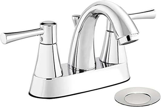 Belanger Neo74ccp Two Handle Centerset Bathroom Faucet With Drain Assembly Polished Chrome Amazon Com