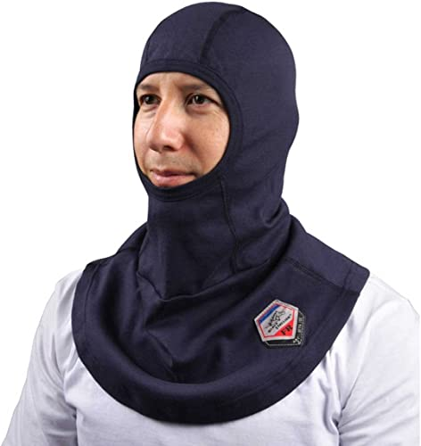 new arrival Black Stallion outlet sale - AH1520-NV AH1520 TruGuard 200 Arc Rated FR Cotton high quality Balaclava One S Blue online