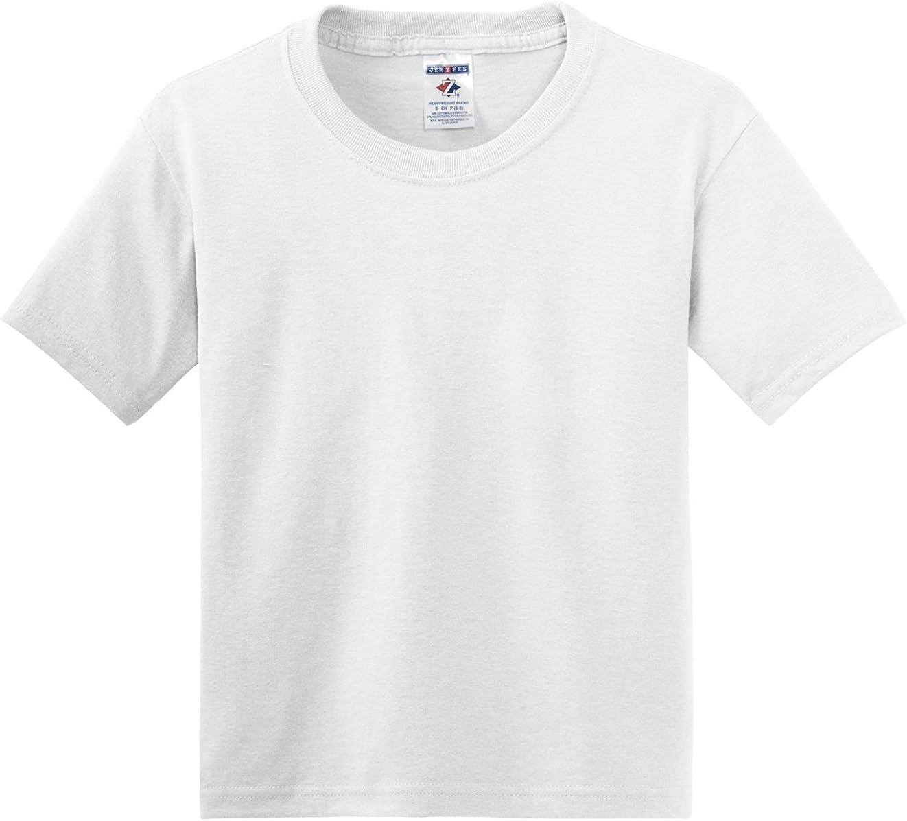 Jerzees Heavyweight Crewneck T-Shirt, White, XSmall. (Pack of 6)
