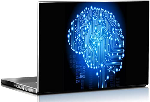 PIXELARTZ Laptop Skins Electronic Brain 15.6 Inches Laptop Skins/Stickers for Dell-Lenovo-Acer-HP (4037)