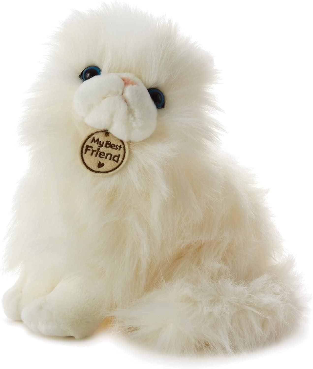 Hallmark My Best Friend Large White LongHaired Cat Plush Stuffed Animal