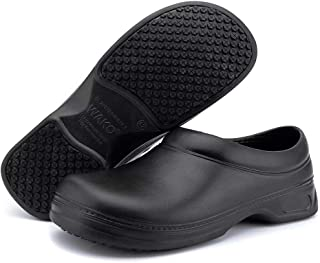 Women's and Men's Slip Resistant Work Shoes Comfort Slip on Chef or Nursing Shoes