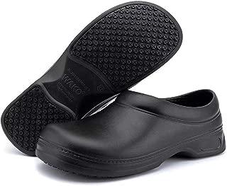 Women's and Men's Slip Resistant Work Shoes Comfort Slip on Chef or Nursing Shoes